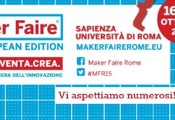 Maker Faire Rome 2015: ricco programma per lo stand di FILOALFA