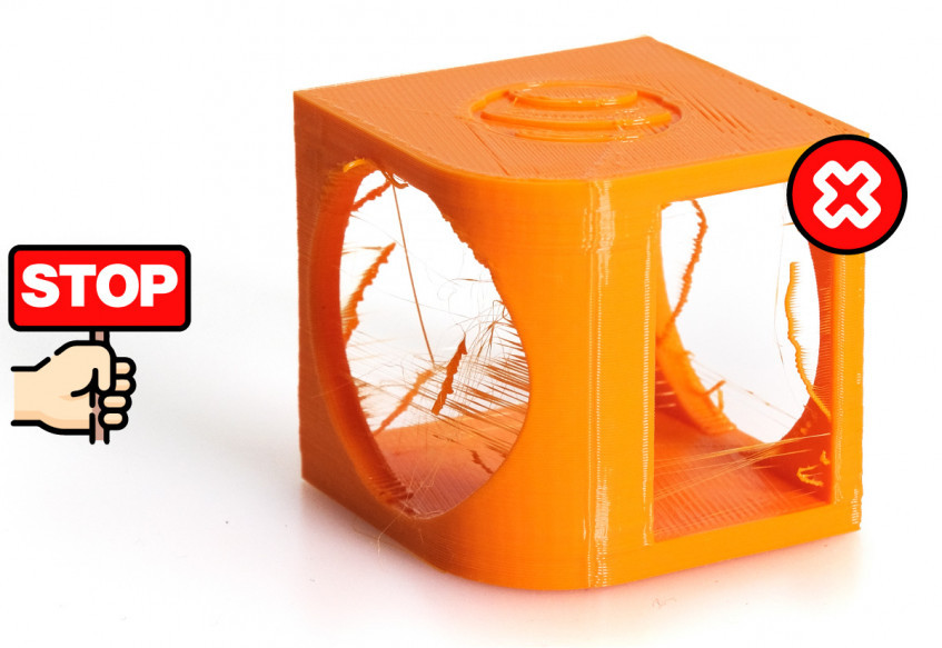 Setting retractions in 3d printing