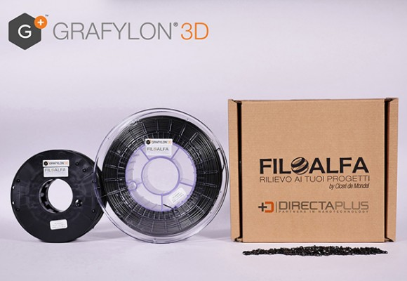 Grafylon 3D ®, filaments for 3d printing in PLA loaded with graphene
