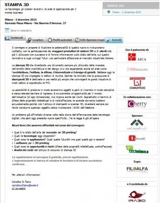 STAMPA 3D: le tecnologie, gli scenari evolutivi, le aree di applicazione per il mondo business