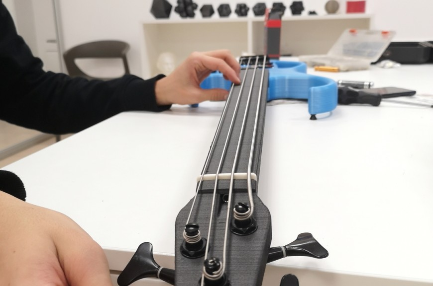 Electric bass Printed in 3d